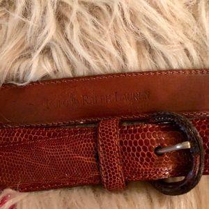 Ralph Lauren Vintage Lizard Belt